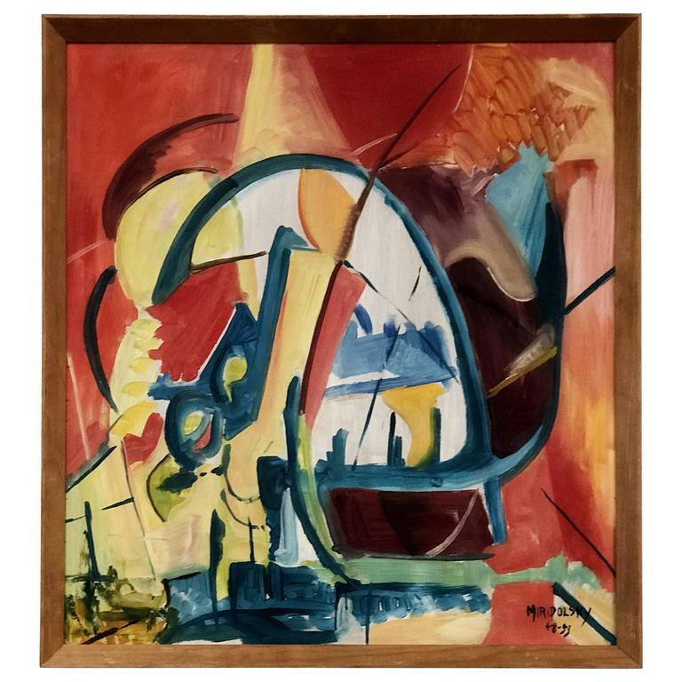 Complex and Dynamic Abstract Oil Painting by Bert Miripolsky