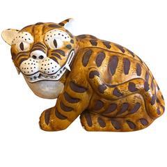 Vintage 1960s Gump's San Francisco Ceramic Tiger
