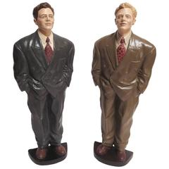 Dapper Display Figures from a 1940s Mens Haberdasherie