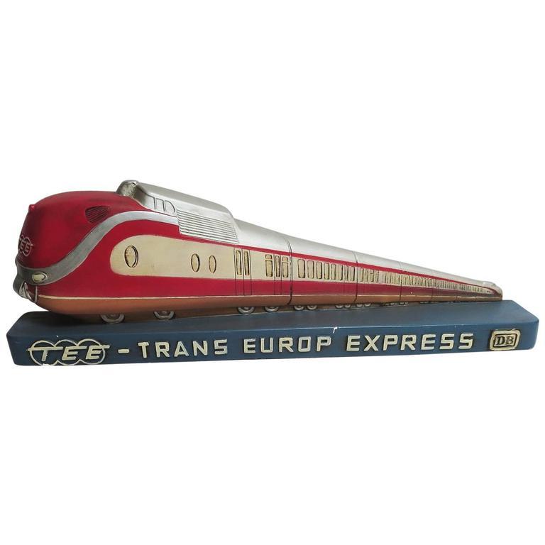 Trans Europ Express Rare Streamlined Plaster Train Display 1