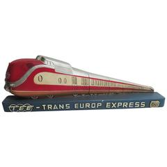 Trans Europ Express Rare Streamlined Plaster Train Display