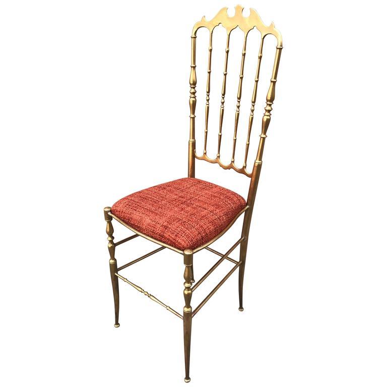 1950s Italian Brass Chiavari Chair 1