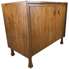 Stylized Ribbon Mahogany Cabinet or Dresser by John Widdicomb