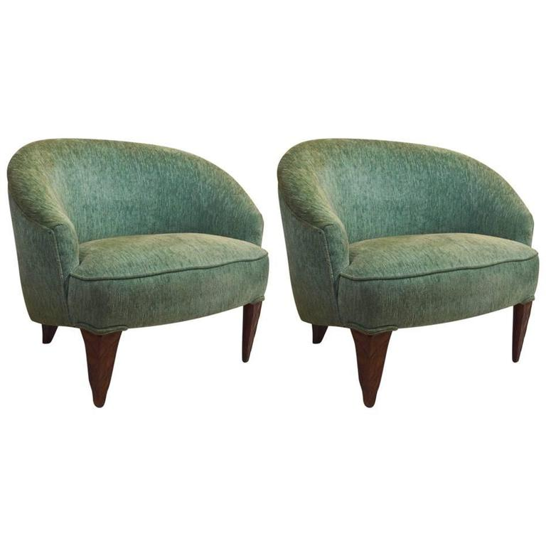 Beau Fine Pair Of Wormley For Dunbar Janus Chairs