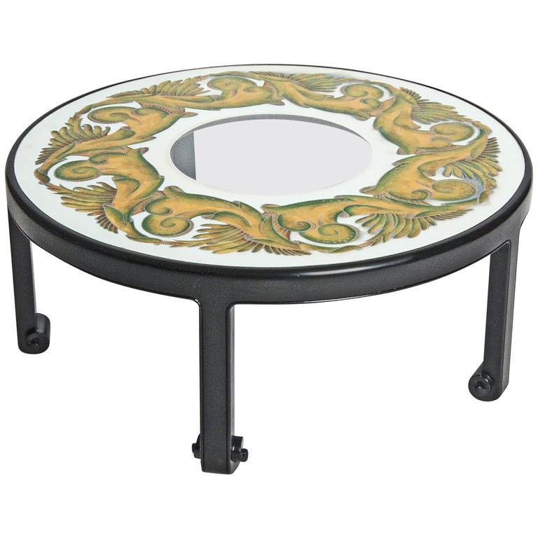 Coffee Table  Hollywood Regency, Églomisé Top