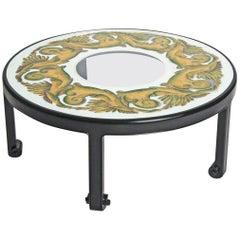 Coffee Table  Hollywood Regency, Églomisé Top