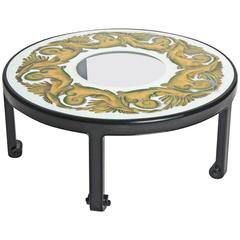 Glamorous Hollywood Regency, Églomisé Top Coffee Table