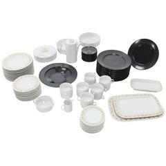 Tapio Wirkkala for Rosenthal Dinner Coffee 80 Pieces Set Plates Noire Porcelain