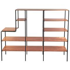Mid-Century Modern Wood and Iron Shelf