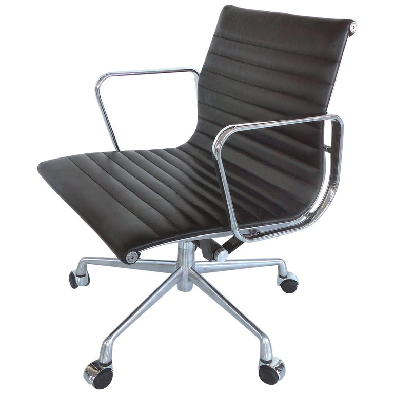 Mid-Century Modern Eames Leather Desk Chair