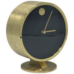 1950s Modern Brass Desk Clock