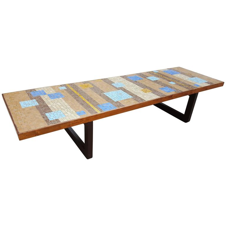 Mosaic Tile Coffee Table For Sale At 1stdibs
