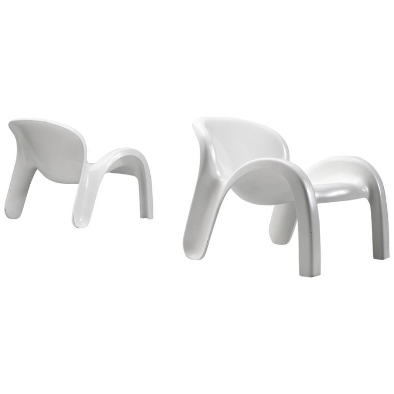 Peter Ghyczy Lounge Chairs in Fiberglass