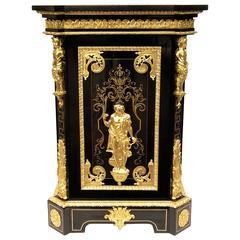 Unique and Rare Elysée Ceremonial Cabinet, Louis XIV Style, France, 1875