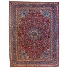 Early 20th Century Ispahan Rug, Imperial Workshop of Shah, circa 1920, Iran