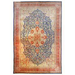 20th Century Turkish Rug, Hereke Silk Signed, circa 1970