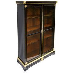 Elegant Napoleon III Bookcase Vitrine Cabinet, France, 1875