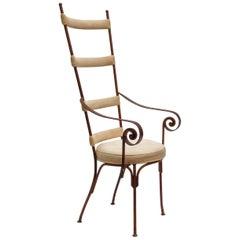 Italian Gilt Metal Mid-Century Chair