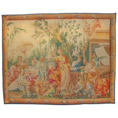 18th Century Tapestry Aubusson, 1754-1755