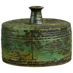 Unique Cylindrical Bottle Vase by Annikki Hovisaari for Arabia, Finland, 1960s