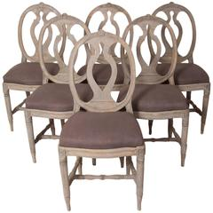 Six Gustavian Chairs, The Swedish Model, Sweden, circa 1785, Wooden Stamped
