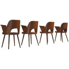 Oswald Haerdtl Set of Four Armchairs for Thonet