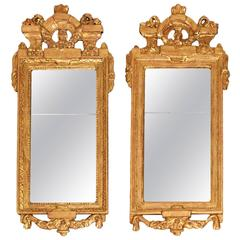 A Gustavian Pair of Guilded Mirrors, by Johan Åkerblad, Stockholm, Sweden 1780