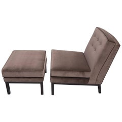 1950s Lounge Chair and Ottoman in the Style of Harvey Probber