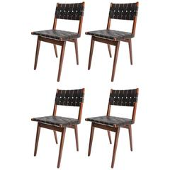 Set of Four Fully Restored Armless Dining Chairs by Mel Smilow