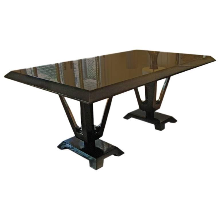 Eleanor Forbes for Tapp Dining Table w twoExtension Leaves For Sale