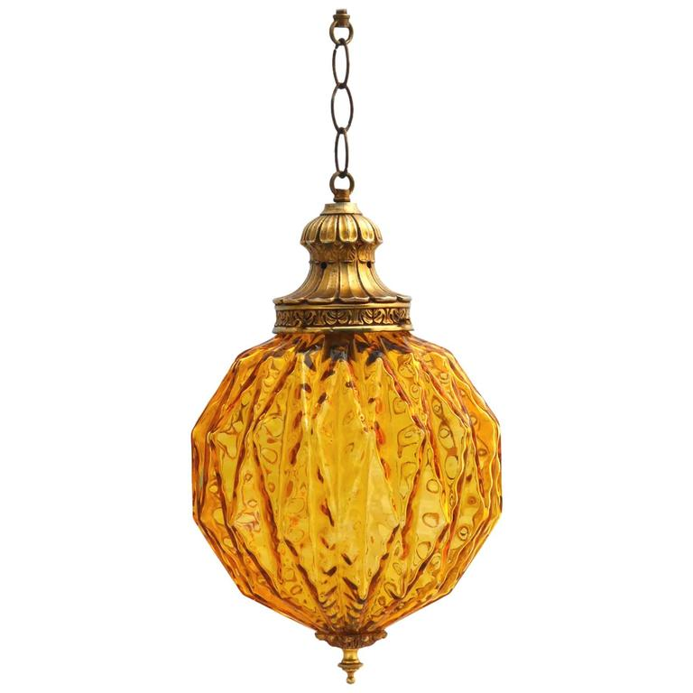 Mid century globe pendant light amber glass moorish at 1stdibs mid century globe pendant light amber glass moorish for sale aloadofball Images