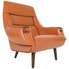 H.W. Klein for Bramin Rosewood Pawed Lounge Chair