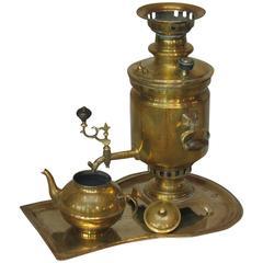 Russian Brass Samovar, By the Salishchev Factory, Tula, circa 1906