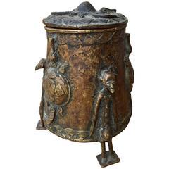 African Bronze Vessel Dogon Mali