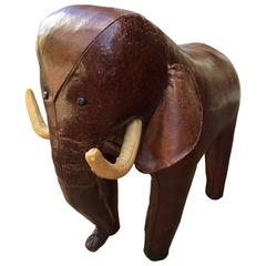 Leather Elephant Footstool by Omersa for Abercrombie