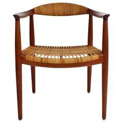 Hans Wegner 'The Chair' in Teak and Cane for Johannes Hansen