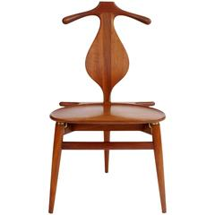 Hans Wegner 'Valet Chair' in Teak for Johannes Hansen, 1950s