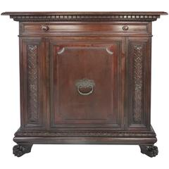 1930 S. Pagano Carved Lion Paw Cabinet