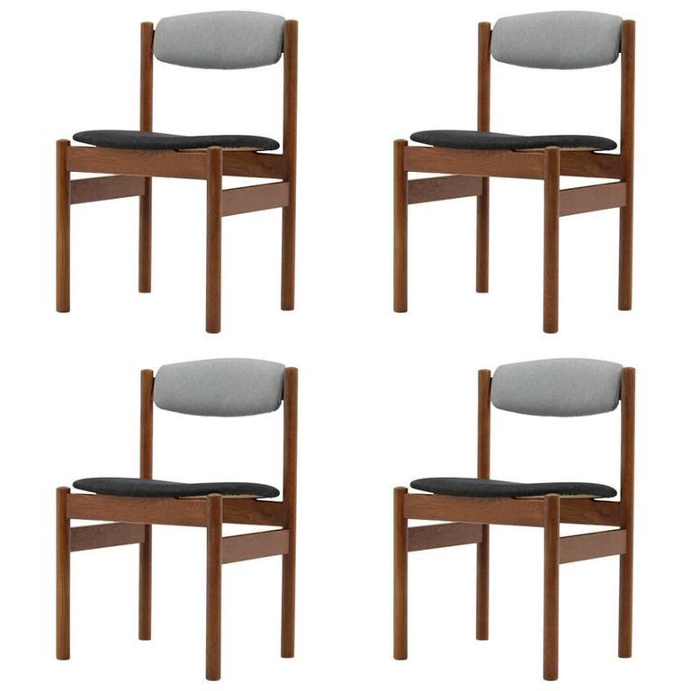 Set of Four Danish Oak Dining Chairs, 1960s For Sale