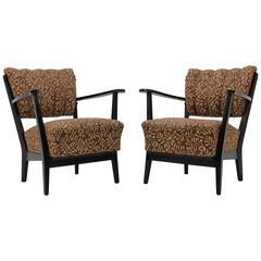 Pair of Czech Armchair with Original Upholstery, 1950s