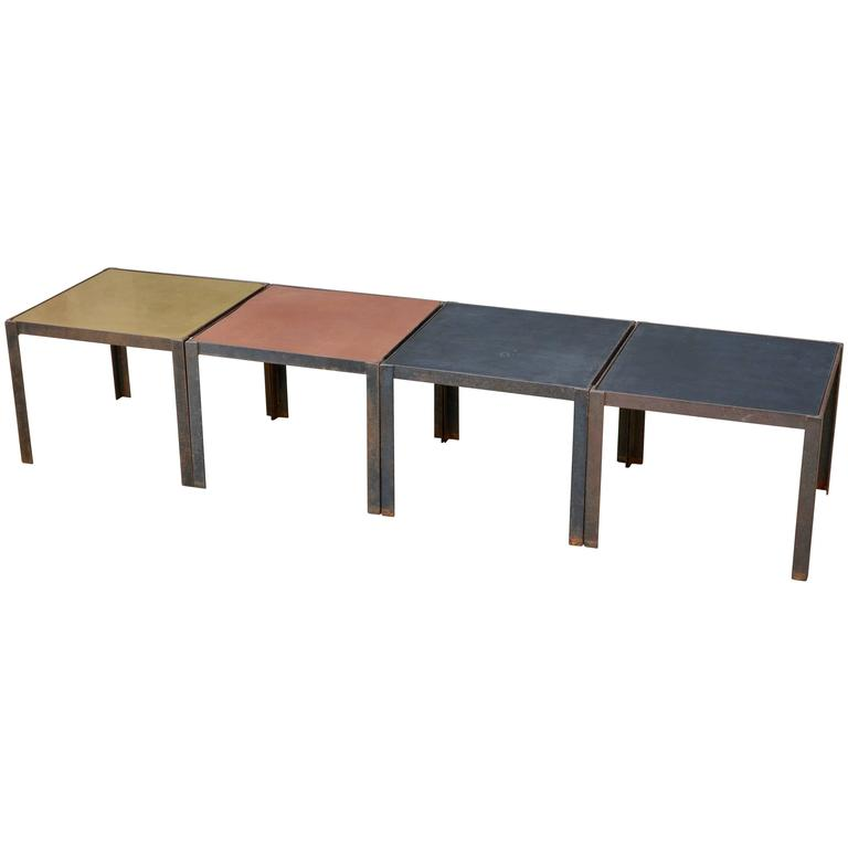 Damier Modular Coffee Table Or Set Of Side Tables By Design Fr Res For Sale At 1stdibs