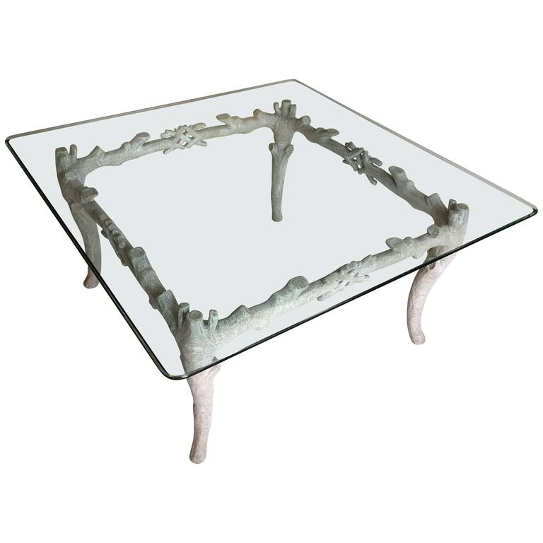 Arthur Court Aluminum Coffee Table 1