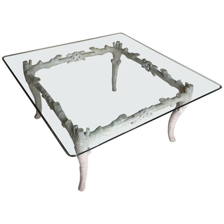 Arthur Court Aluminum Coffee Table For Sale