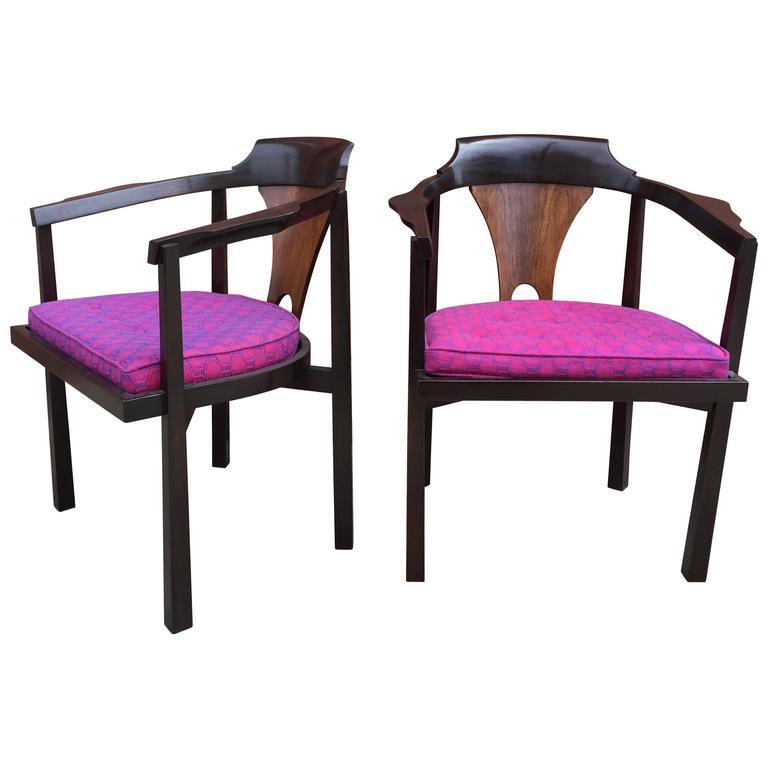 Pair of Dunbar Occasional Chairs For Sale