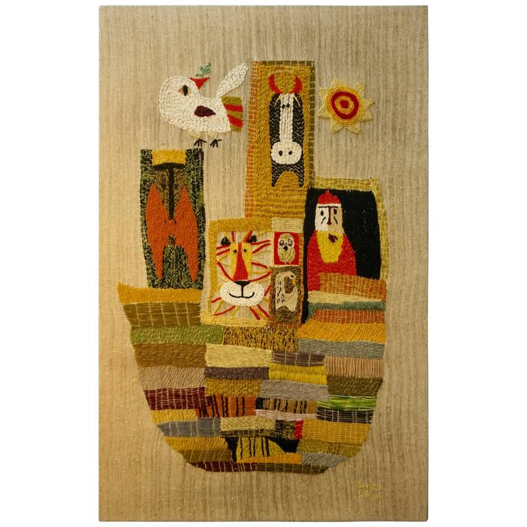 Handwoven Tapestry by Nancy Nash For Sale
