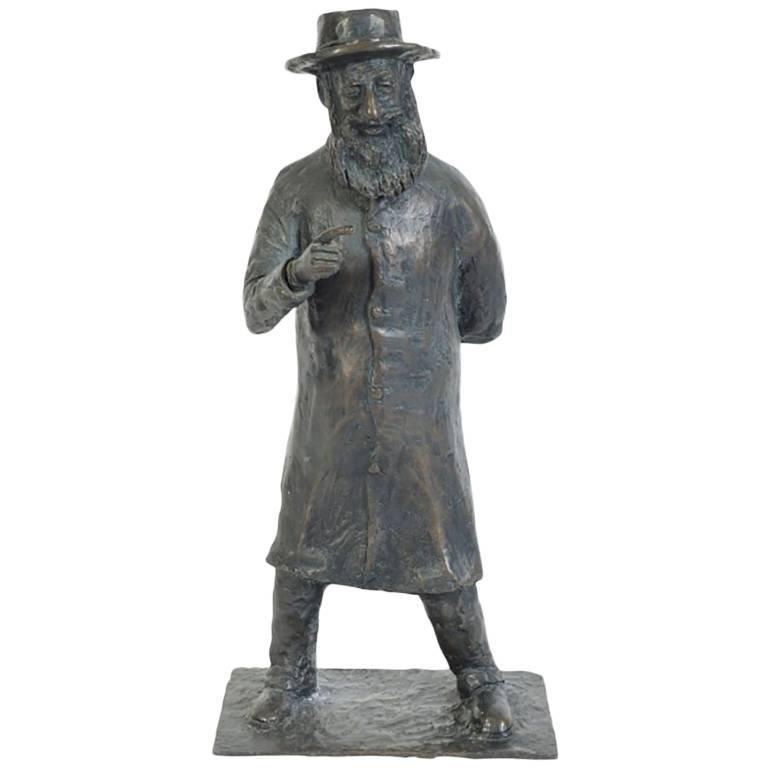 H.W. Hauptman Bronze Sculpture of a Judaic Figure