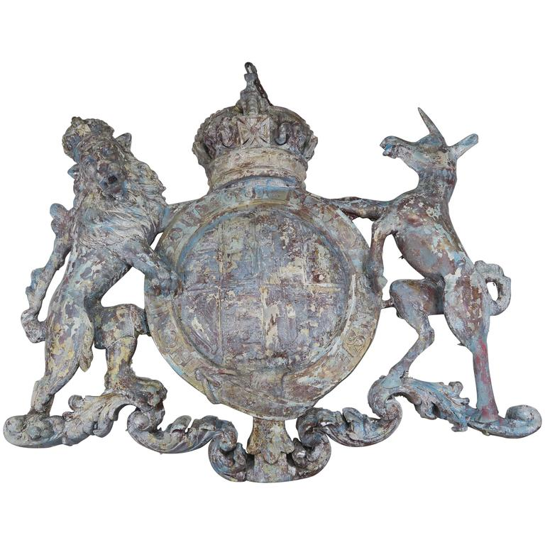 Monumental Royal Coat of Arms, circa 1930 1