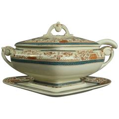 Antique Aesthetic Movement English Porcelain Staffordshire Tureen, circa 1870