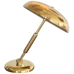 1940s, Italian Brass Articulating Ministerial Lamp