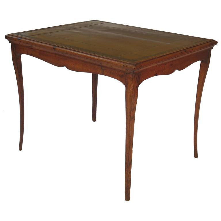 Louis XVI French Oak Game Table with a Leather Top, circa 1780